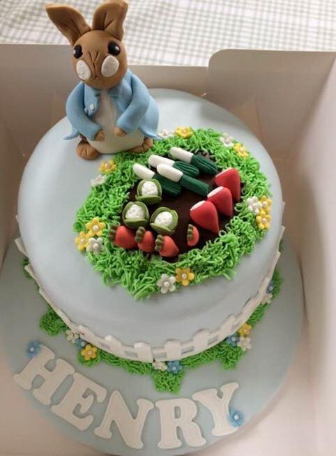 Surprising Peter Rabbit Birthday Cake For Henry Afternoon Tea From Fi New Funny Birthday Cards Online Elaedamsfinfo