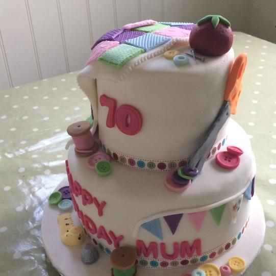 Birthday cake for a 'crafty' lady